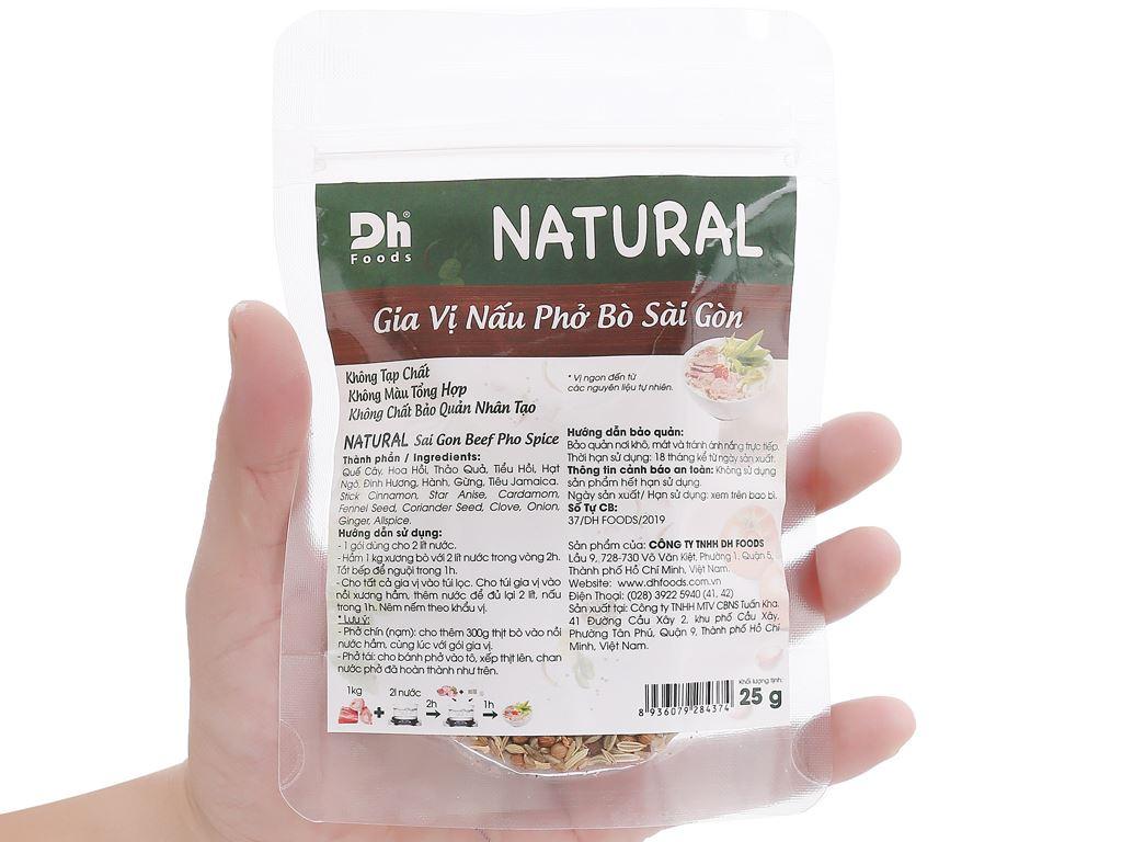 Gia vị nấu phở bò Sài Gòn DH Food Natural gói 25g 4