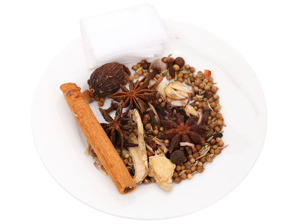 Gia vị nấu phở bò Sài Gòn DH Food Natural gói 25g 5