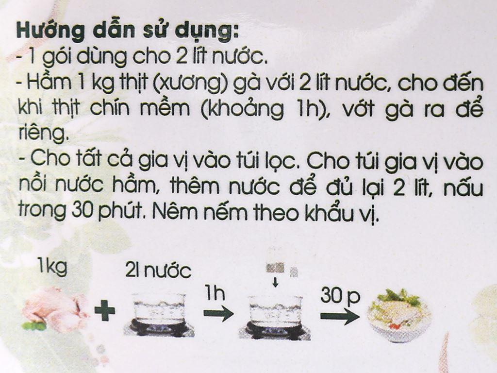 Gia vị nấu phở gà DH Food Natural gói 20g 5