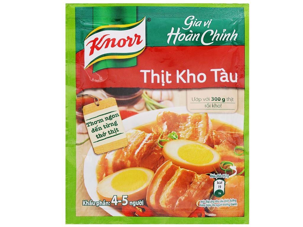 Gia vị hoàn chỉnh thịt kho tàu Knorr gói 28g 1