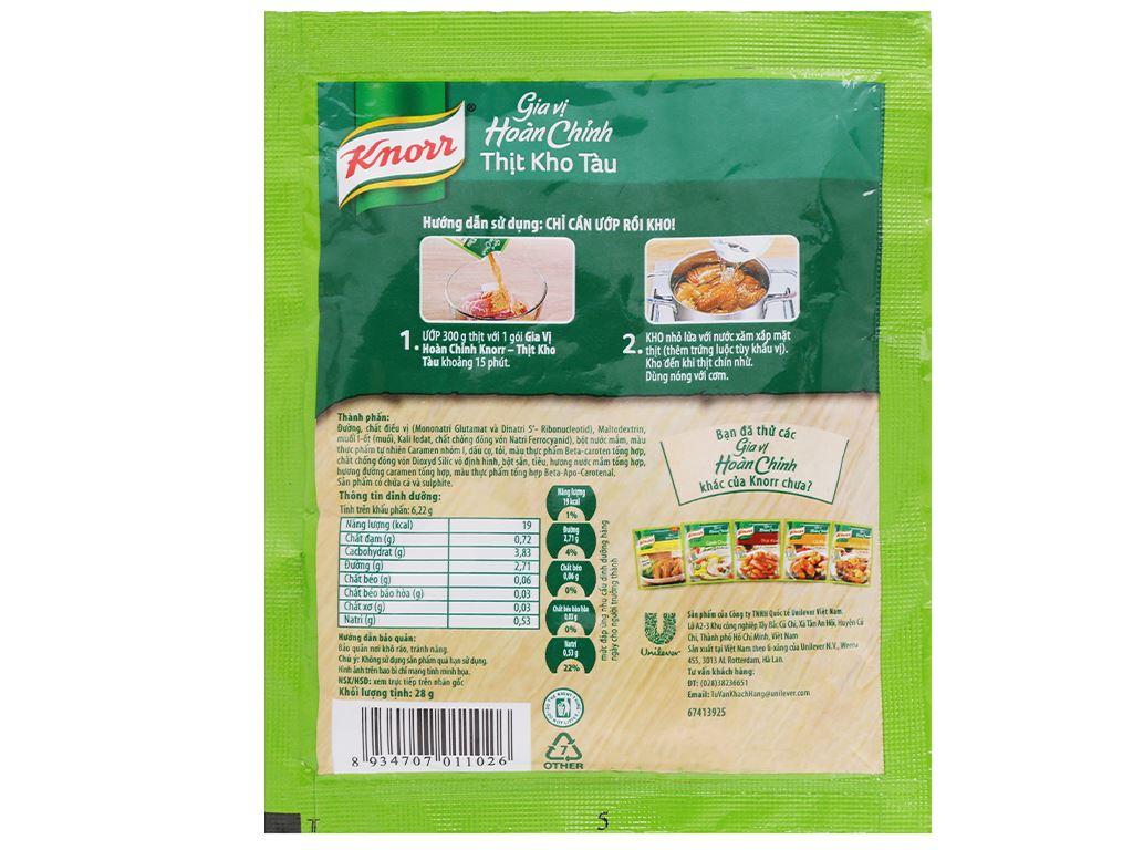 Gia vị hoàn chỉnh thịt kho tàu Knorr gói 28g 2
