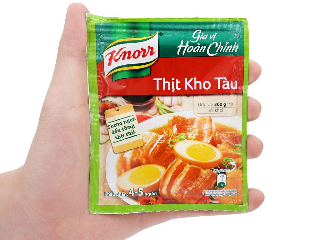 Gia vị hoàn chỉnh thịt kho tàu Knorr gói 28g 4