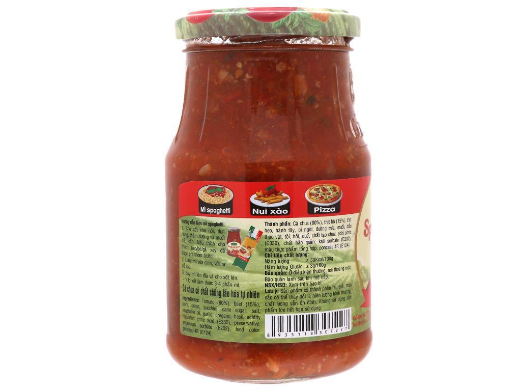 Xốt mì Spaghetti thịt bò Bolognese Golden Farm hũ 370g 2