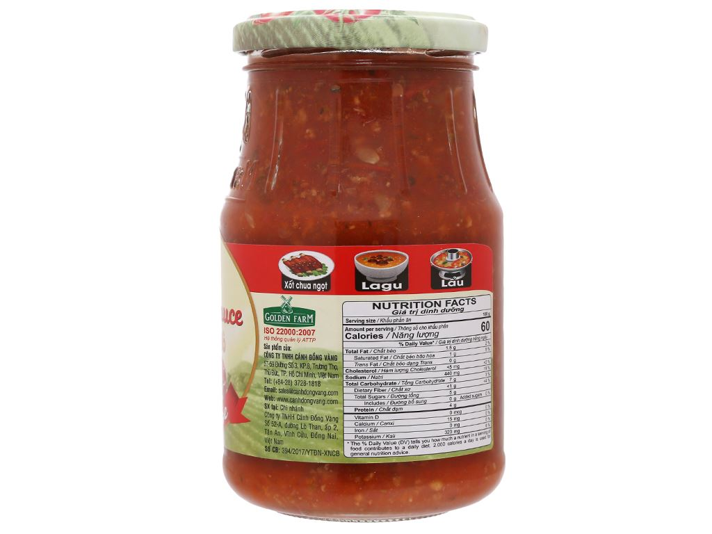 Xốt mì Spaghetti thịt bò Bolognese Golden Farm hũ 370g 3