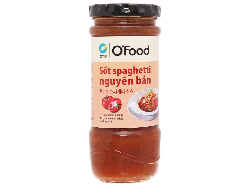 Sốt spaghetti nguyên bản O'food hũ 220g 1