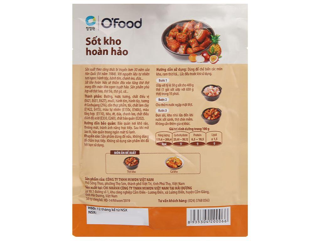 Sốt kho hoàn hảo O'food gói 80g 3