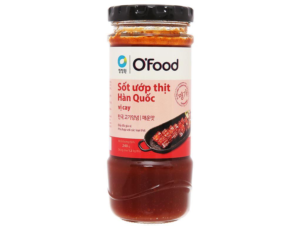 Sốt ướp thịt Hàn Quốc vị cay O'food hũ 240g 1
