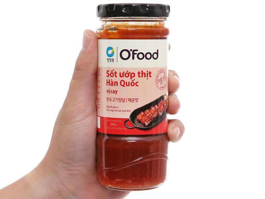 Sốt ướp thịt Hàn Quốc vị cay O'food hũ 240g 4