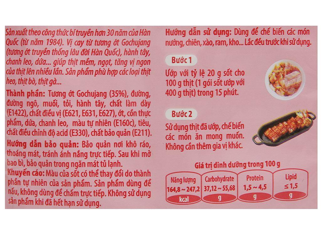 Sốt ướp thịt Hàn Quốc vị cay O'food gói 80g 3
