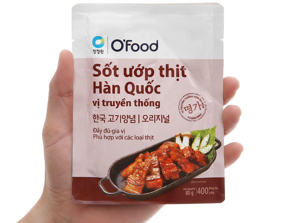 Sốt ướp thịt Hàn Quốc vị truyền thống O'food gói 80g 3