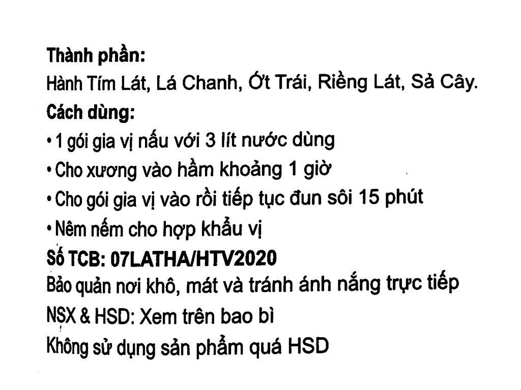Gia vị lẩu Thái Vipep gói 85g 3