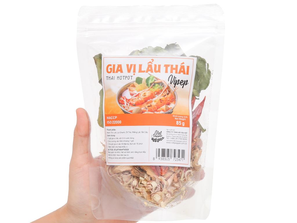 Gia vị lẩu Thái Vipep gói 85g 4