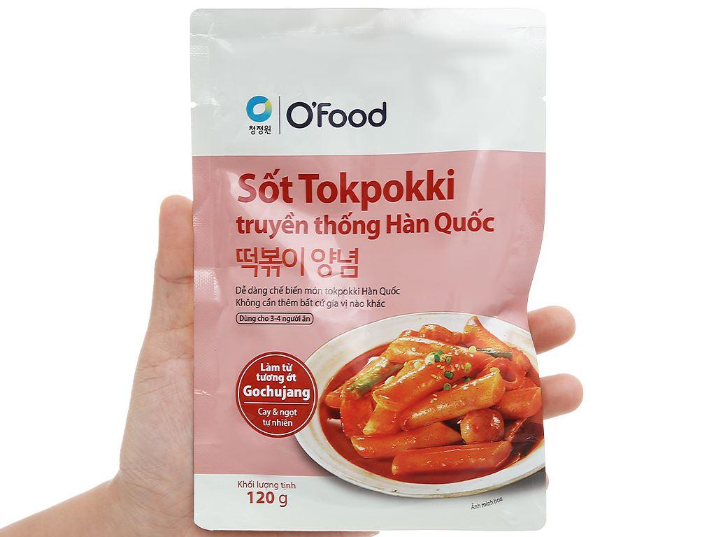 Sốt nấu Tokbokki truyền thống Hàn Quốc O'food gói 120g 4