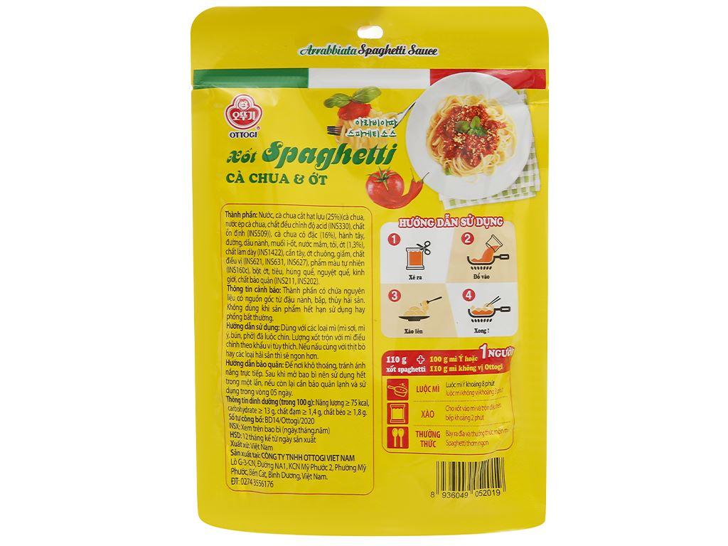 Xốt mì Spaghetti vị cà chua và ớt Ottogi gói 110g 2
