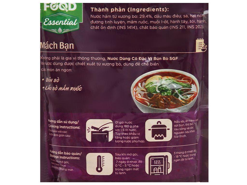 Nước dùng cô đặc vị bún bò SG Food gói 180g 3