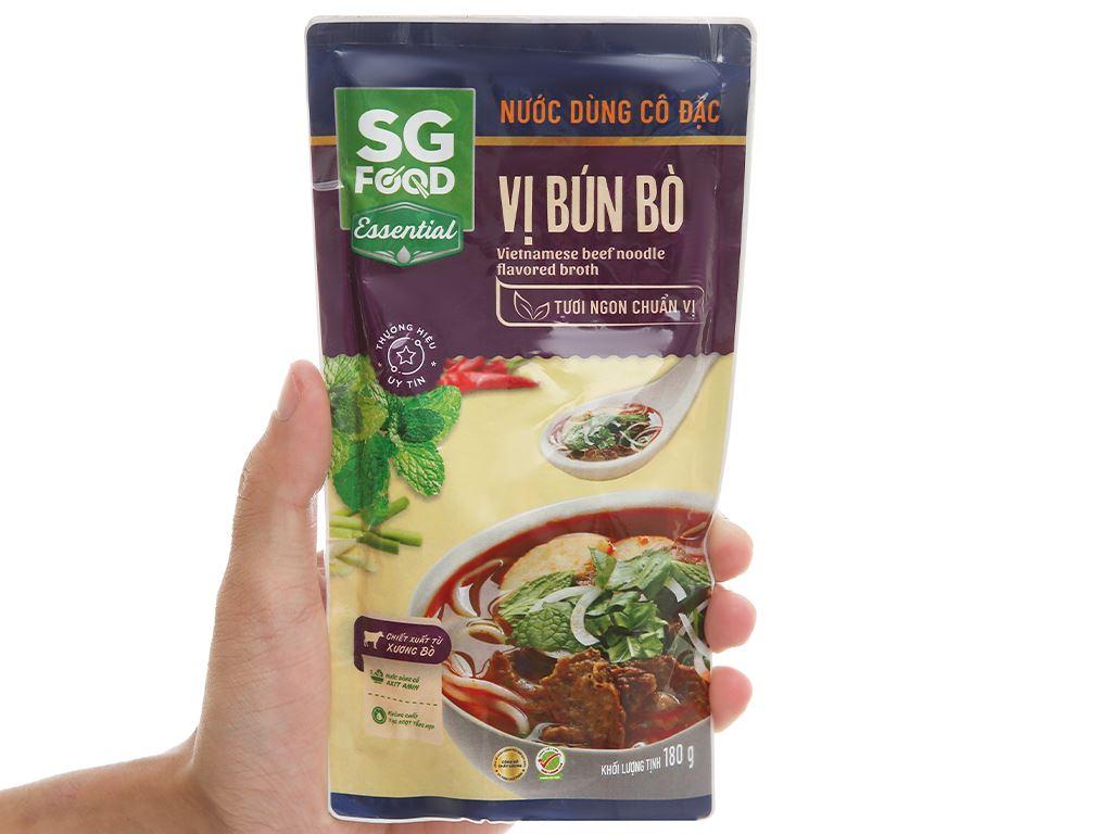 Nước dùng cô đặc vị bún bò SG Food gói 180g 4