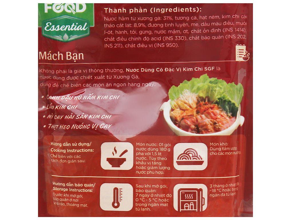 Nước dùng cô đặc vị kim chi SG Food gói 180g 3