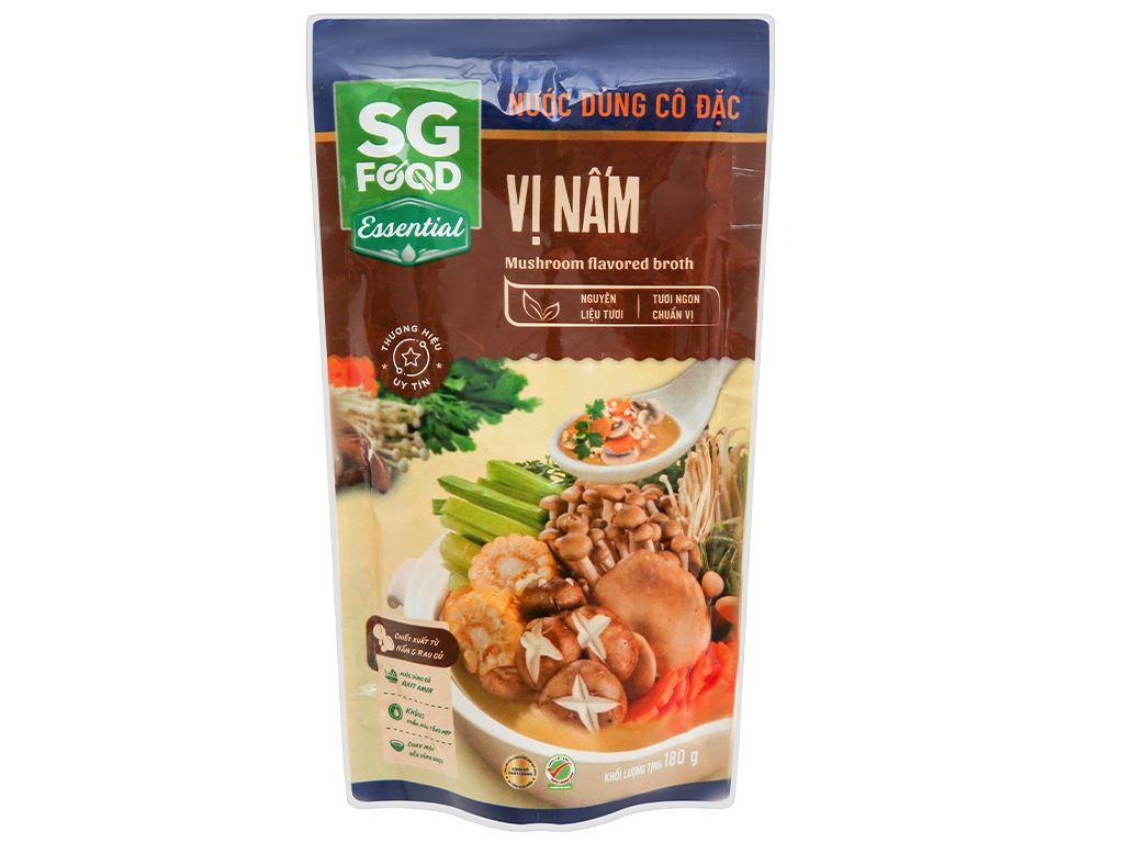 Nước dùng cô đặc vị nấm SG Food gói 180g 1