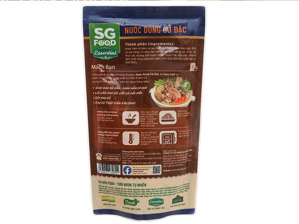 Nước dùng cô đặc vị nấm SG Food gói 180g 2