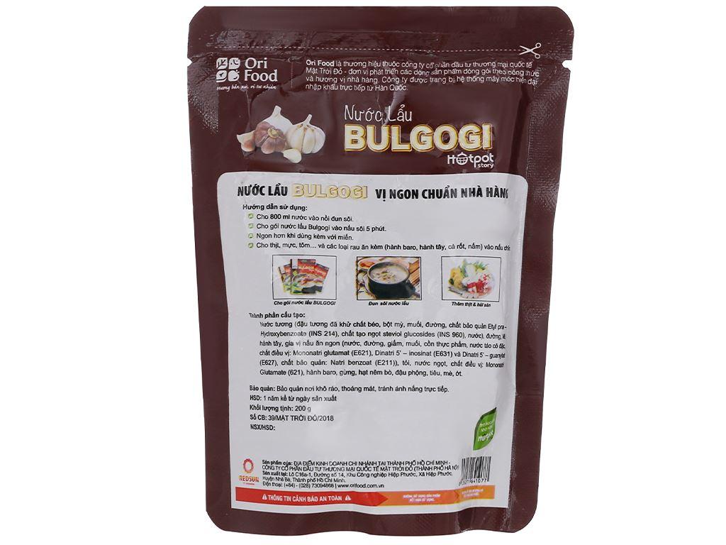 Nước lẩu vị Bulgogi Orifood túi 200g 2