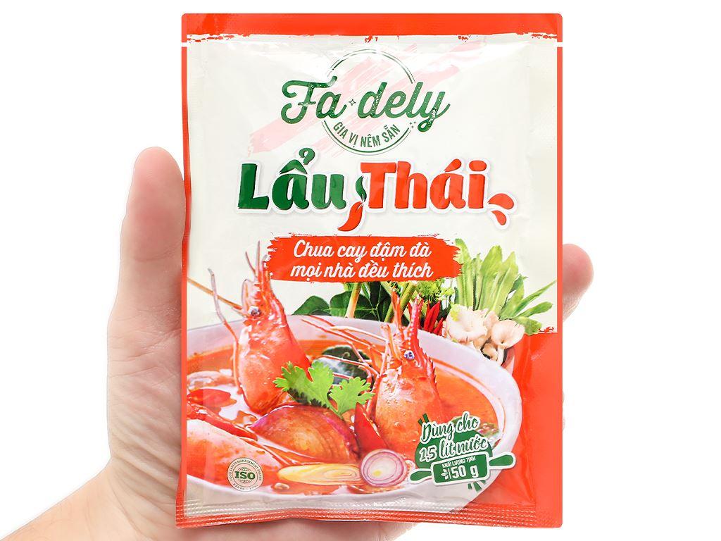 Gia vị nêm sẵn lẩu Thái Fadely 50g 5