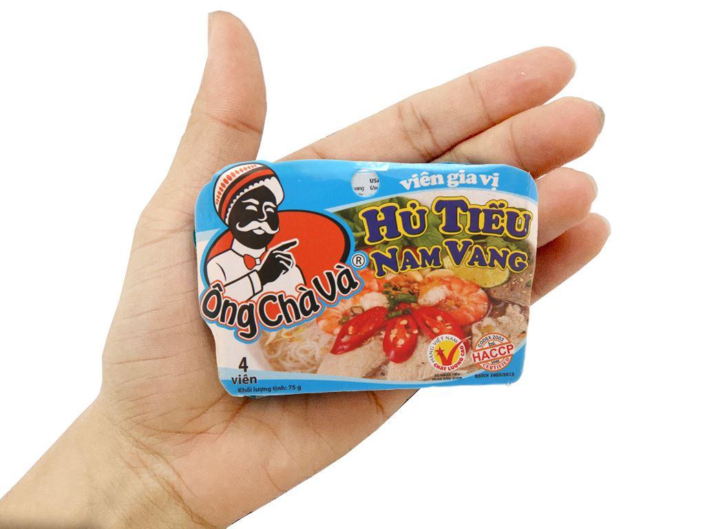Viên gia vị nấu hủ tiếu Nam Vang Ông Chà Và hộp 75g 3