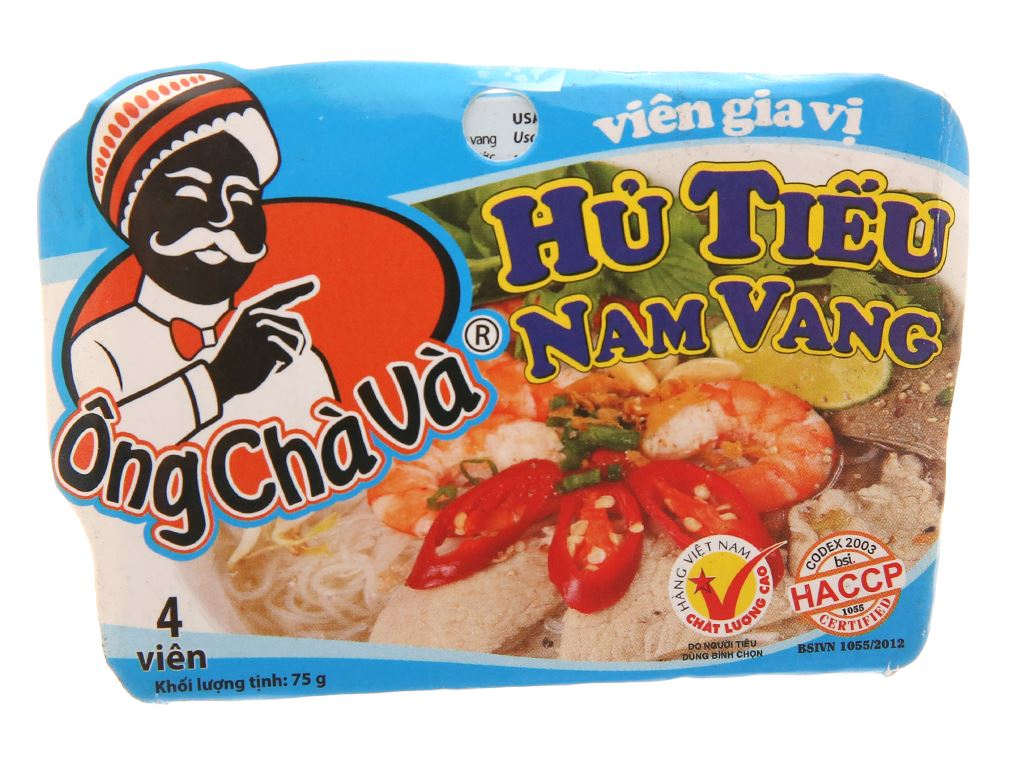 Viên gia vị nấu hủ tiếu Nam Vang Ông Chà Và hộp 75g 1