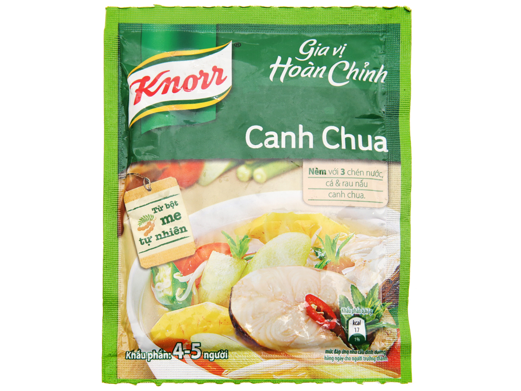 Gia vị hoàn chỉnh nấu canh chua Knorr gói 30g 1