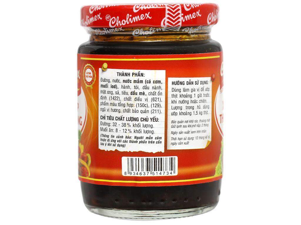 Xốt ướp thịt nướng Cholimex hũ 200g 6