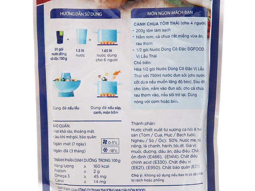 Nước dùng cô đặc lẩu Thái SG Food gói 150g 3