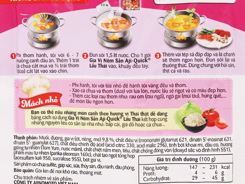 Gia vị nêm sẵn lẩu Thái Aji-Quick gói 55g 8
