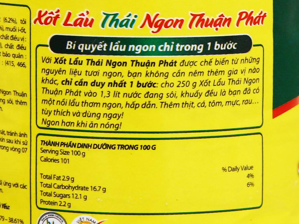 Xốt lẩu Thái Thuận Phát chai 250g 5