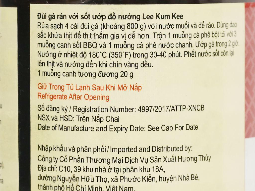 Sốt ướp đồ nướng Lee Kum Kee hũ 240g 5