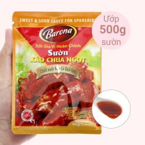 Xốt gia vị hoàn chỉnh sườn xào chua ngọt Barona gói 80g