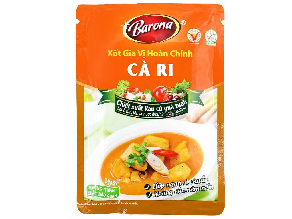 Xốt gia vị hoàn chỉnh cà ri Barona (ướp 0.4kg thịt) 6