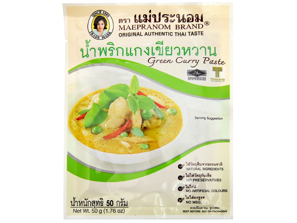 Gia vị cà ri xanh MaePranom gói 50g 1