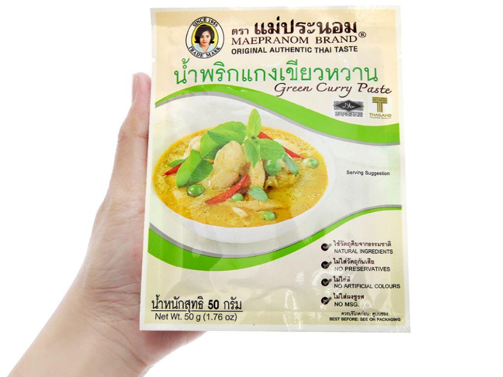Gia vị cà ri xanh MaePranom gói 50g 4