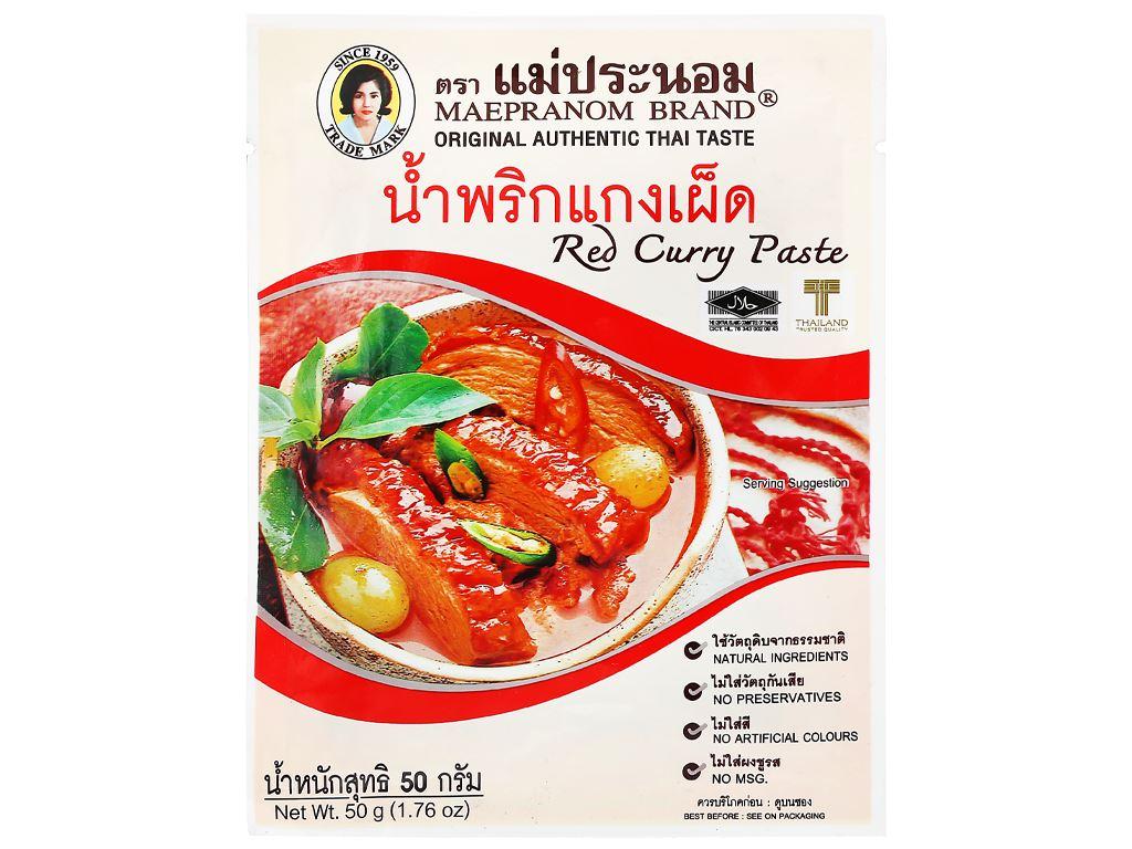 Gia vị cà ri đỏ MaePranom gói 50g 6