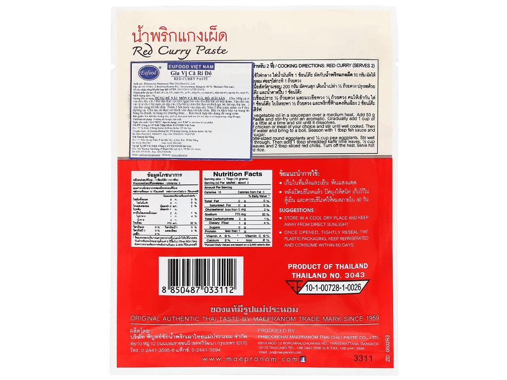 Gia vị cà ri đỏ MaePranom gói 50g 7