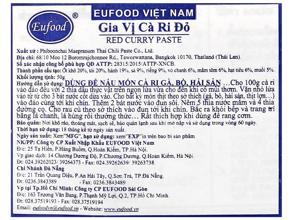 Gia vị cà ri đỏ MaePranom gói 50g 9