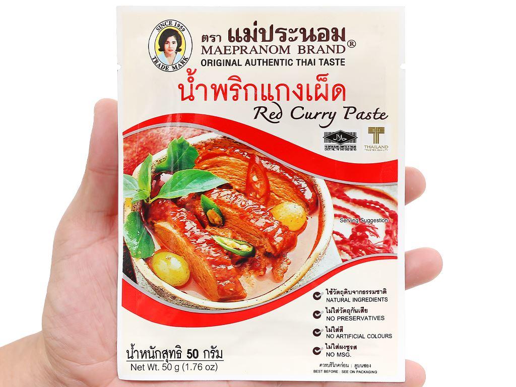 Gia vị cà ri đỏ MaePranom gói 50g 10