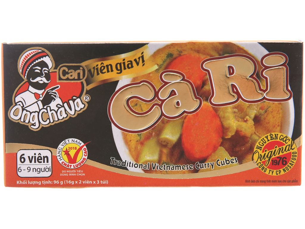 Viên gia vị cà ri Ông Chà Và hộp 96g 1