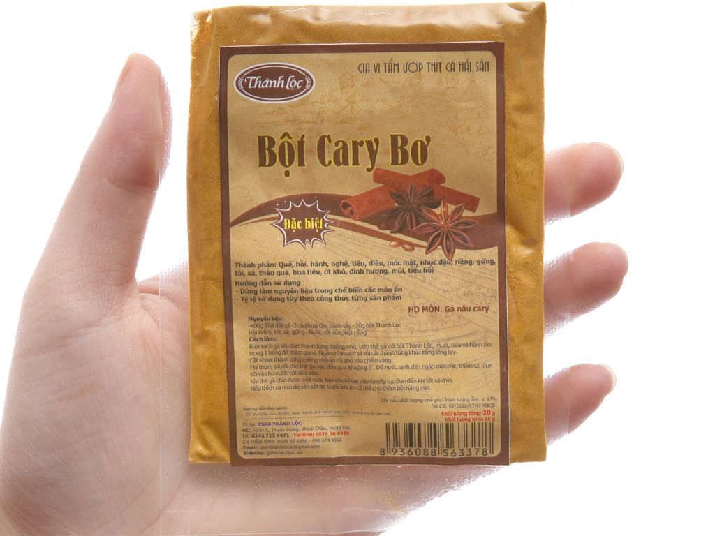 Bột cà ri bơ Thành Lộc gói 20g 3