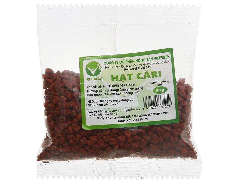Hạt cà ri Vietfresh gói 30g 1