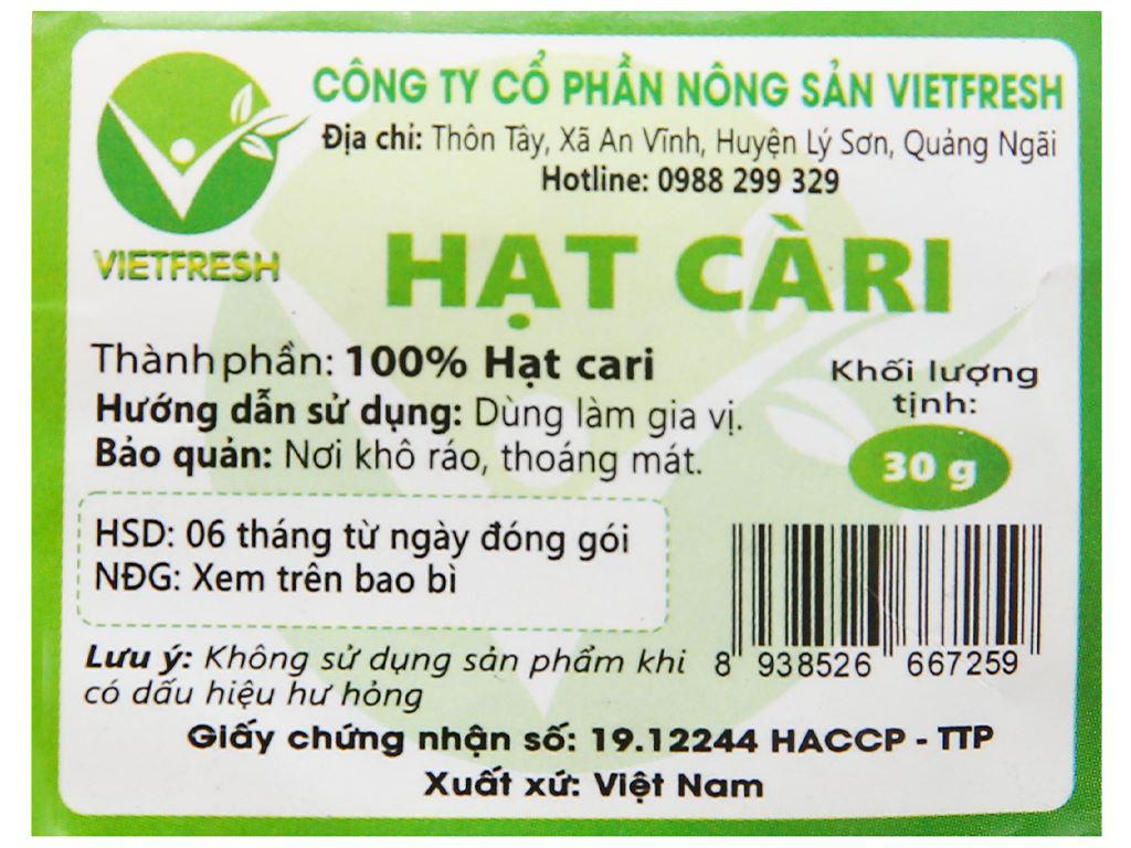 Hạt cà ri Vietfresh gói 30g 3