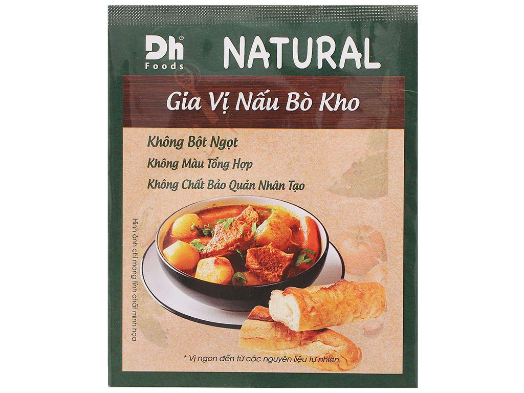 Gia vị nấu bò kho Dh Food Natural gói 10g 1
