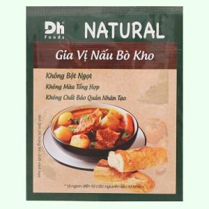 Gia vị nấu bò kho Dh Food Natural gói 10g