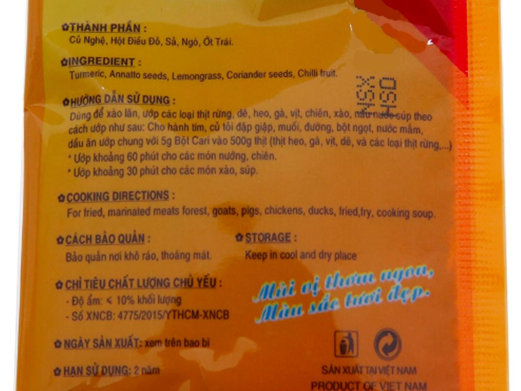 Bột cà ri Thiên Thành (ướp 1kg thịt) 3