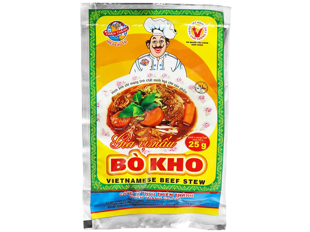 Gia vị nấu bò kho Thiên Thành gói 25g 5