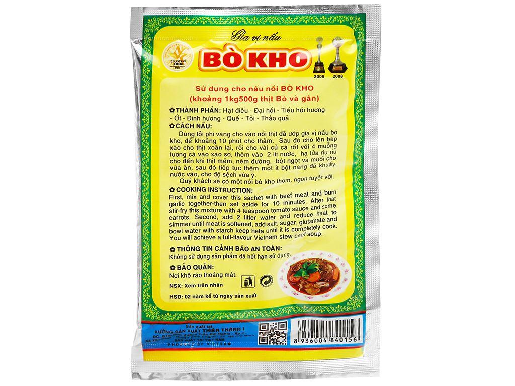 Gia vị nấu bò kho Thiên Thành gói 25g 6